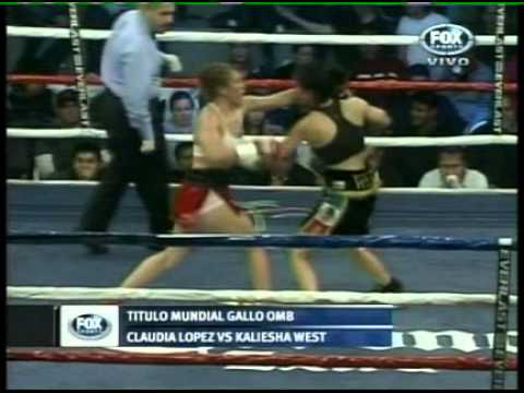 KALIESHA WEST vs CLAUDIA LOPEZ - FULL FIGHT - PELEA COMPLETA