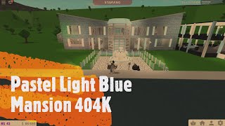 Pastel Light Blue Mansion 404K | Roblox | Bloxburg