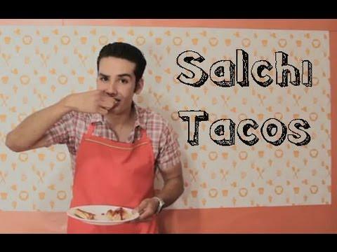 SALCHI TACOS (Receta más fácil del mundo)