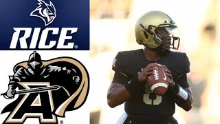 Rice vs Army Highlights | NCAAF Week 1 | College Football Highlights