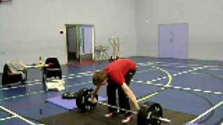 Mike ~ Snatch (Squat) 90 kg @ Belvidere secondary school Gym hall 28.01.09 @ 63 kg bodyweight