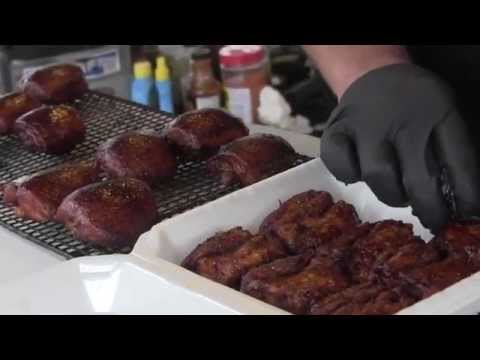 Lang BBQ Smokers at the  FBA Triple Crown 2012 Chicken
