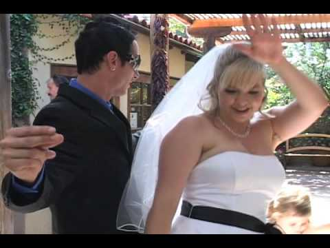 bride husband lapdance