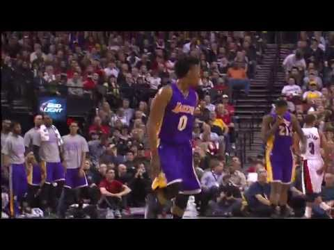 Nick Young's Crossover Puts Steve Blake on the Floor