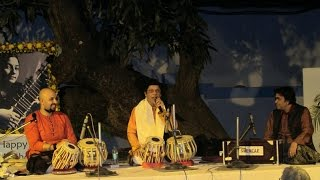Pandit Anindo Chatterjee and Anubrata Chatterjee on the Tabla