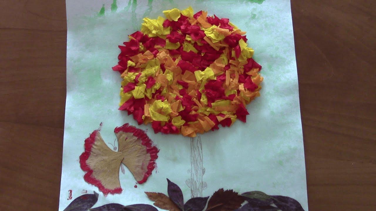 Аппликации на тему золотая осень поделка