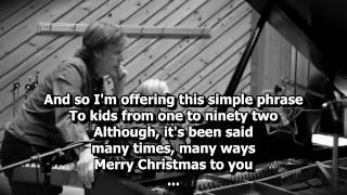 Watch Paul McCartney The Christmas Song Chestnuts Roasting On An Open Fire video