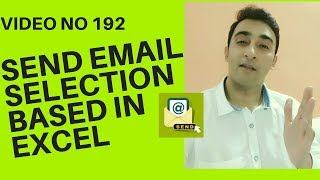 Learn Excel - Video 192 - VBA - Send Outlook Emails selection based excel cells