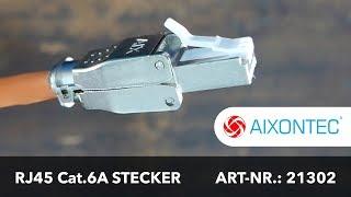 Montageanleitung Cat.6A RJ45 Stecker Art.-Nr. 21302 - Deutsch