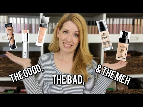 5 FOUNDATIONS TESTED   2-Min Quick Reviews   DRY SKIN