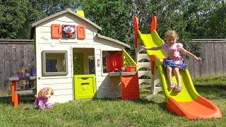 Toys Paw Patrol play in the kids playhouse Funny video for kids about Paw Patrol