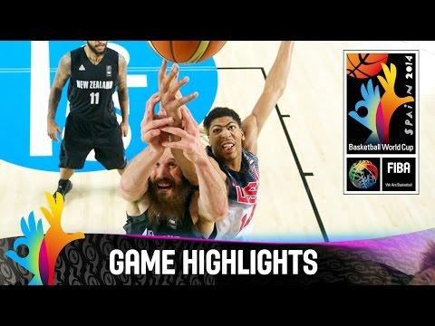 USA v New Zealand - Game Highlights - Group C - 2014 FIBA Basketball World Cup
