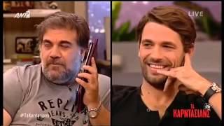 Agron Llakaj në emisionin Ta Kardasians te ANT1 ne Greqi 29 Tetor 2014