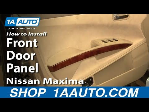How to Install Replace Remove Front Door Panel Nissan Maxima 04-08 1AAuto.com