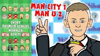 🔴MAN UNITED beat MAN CITY!🔵 #16 Every Premier League Manager Reacts! 19/20