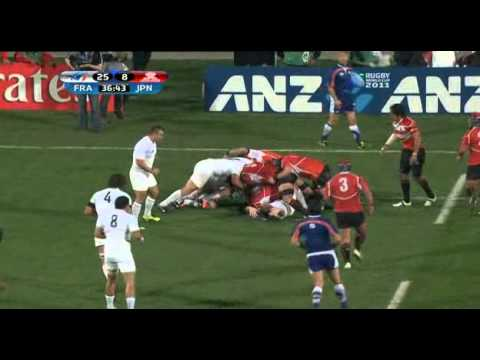 Rugby union France vs Japan at Auckland, New Zealand part 4.