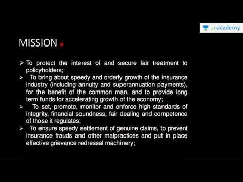 Unacademy: Insurance Regulatory And Development Authority Of India (IRDA)