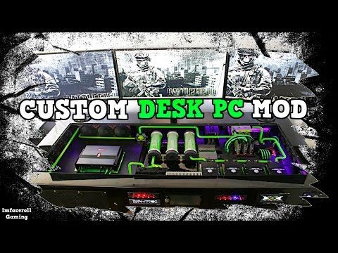Ultimate Custom Desk PC Upgraded - Gaming PC Liquid cooled