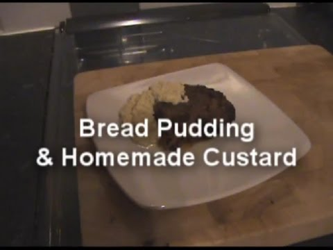 Delicious Homemade Bread Pudding & Custard - MYVIRGINKITCHEN