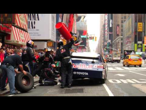 Pit stop a Times Square-en