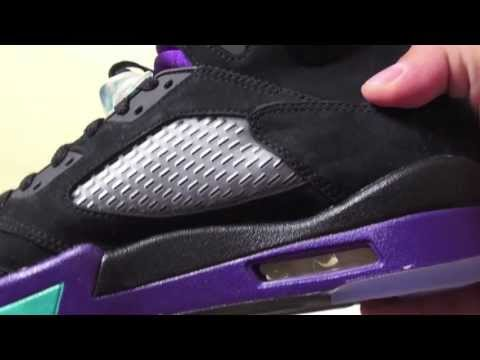 Air Jordan 5 (V) Aqua - Black Grapes 2013