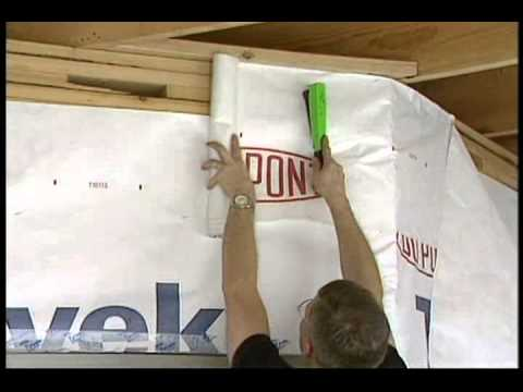 Installation of housewrap youtube for Sheathing house wrap