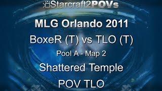 SC2 WoL - MLG Orlando 2011 - BoxeR vs TLO - Pool A - Map 2 - Shattered Temple - TLO