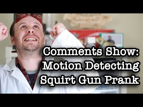 Comments Show: Motion Activated Squirt Gun video