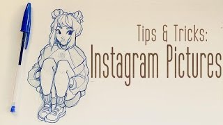 Tips & Tricks; Photographing Sketches for Instagram!
