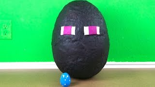 GIANT MINECRAFT ENDERMAN Play-doh Surprise Egg, Angry Birds Bling Bag, My Little Pony Fash