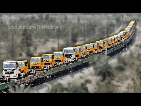 Trucks on Train | Automobile  Rail Transport | Indian Railways thumbnail