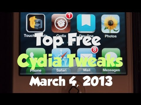 Top Free Cydia Tweaks March 2013 iOS 6.1.2 Evasion Jailbreak iPhone 5. iPod. iPad