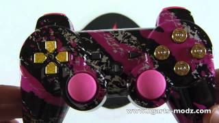 PURPLE SPLATTER PS3 - CUSTOM DESIGNS - PS3 Controllers | HG Arts Modz