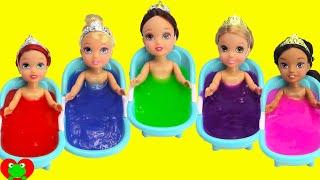 Disney Princess Slime Bath Surprises LEARN Colors