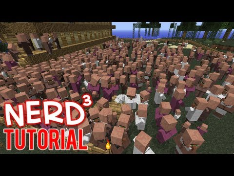 Minecraft Tutorial: Infinite Villager Spawner and Emerald Farm