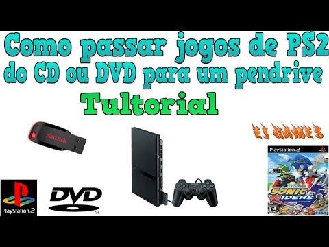 video comentado!!Como passar  jogos de PS2  do CD ou  DVD  para um pendrive  2015