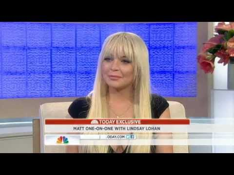 Lindsay Lohan on Late Night w/Matt Lauer 'I am clean and sober now'