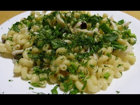 Постное блюдо с кальмарами (Кальманара)))