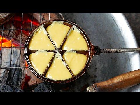 Vietnam Street Food - Mini Egg Batter Cakes Ho Chi Minh City