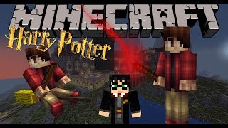 MOD HARRY POTTER!! - Hogwarts, escobas, varitas, hechizos... - Minecraft mod 1.7.10  Review ESPAÑOL