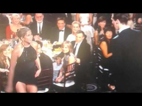 Jennifer Aniston Hot Upskirt At Golden Globes Awards 2015
