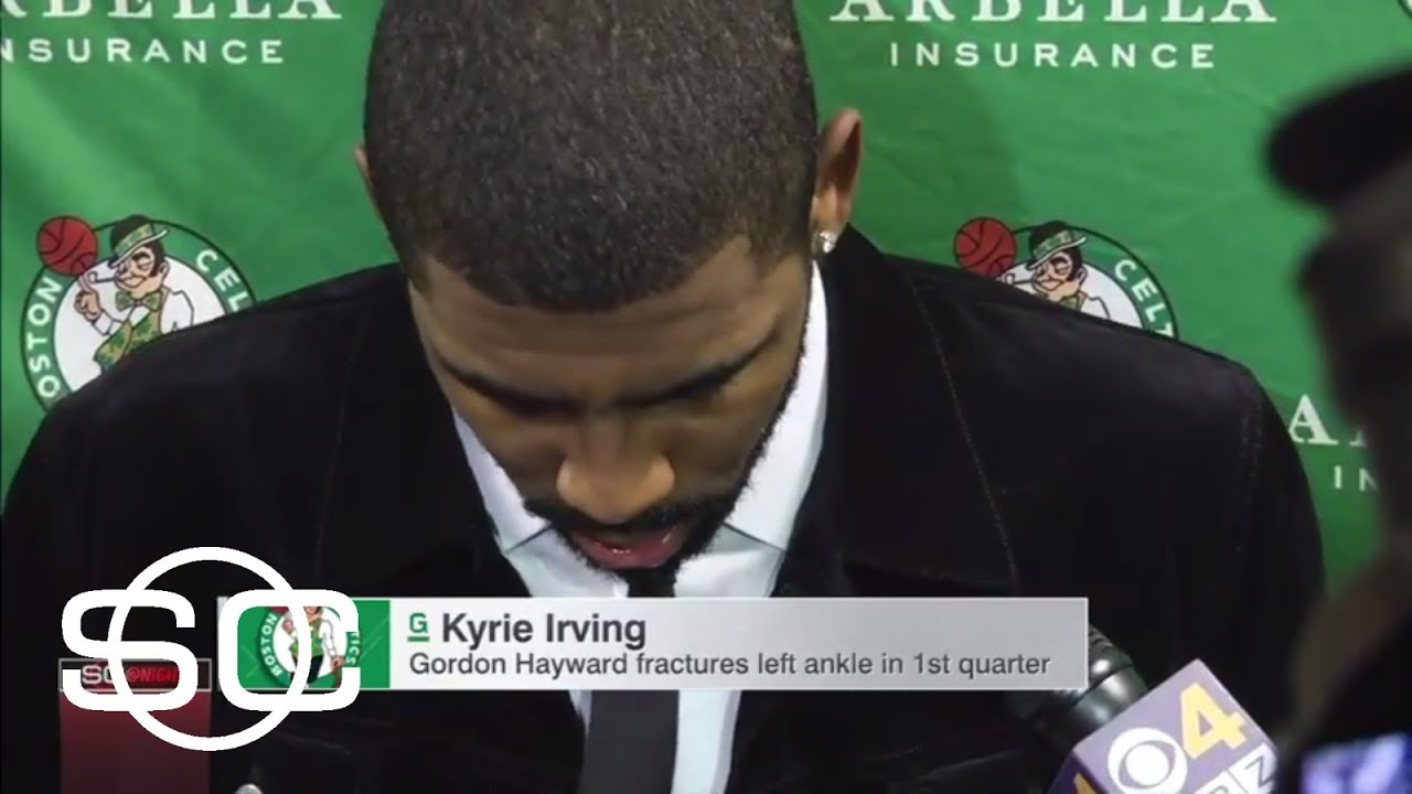 Kyrie Irving sending well wishes to Celtics teammate Gordon Hayward | SportsCenter | ESPN