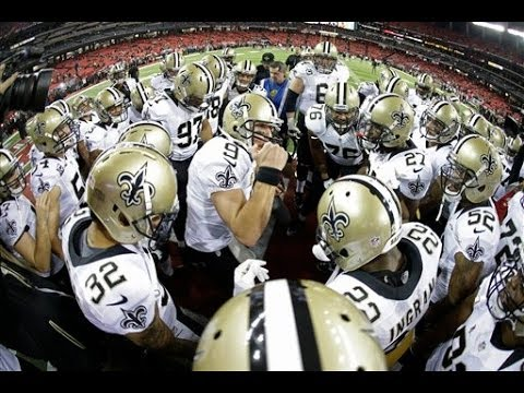 2013 Drew Brees Pre-Game Huddle Compilation - YouTube