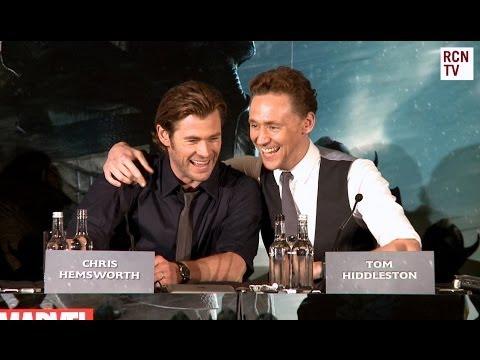 Tom Hiddleston & Chris Hemsworth Interview Thor The Dark World Premiere