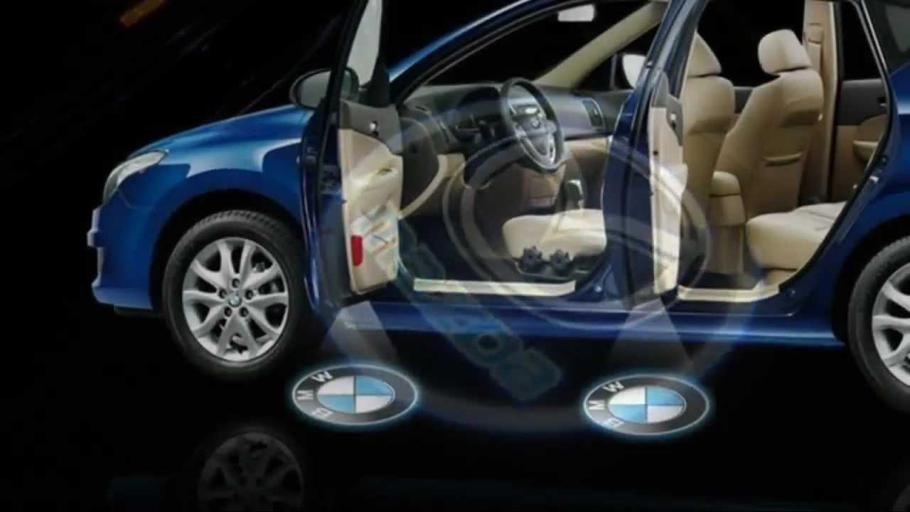 Audi logo laser light