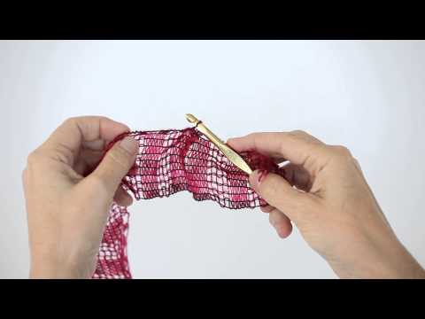 How to Make a Ruffle With Red Heart Boutique Filigree Yarn