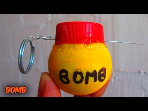 Como Hacer Una Bomba o Granada De Humo Casera De Juguete MUY FÁCIL