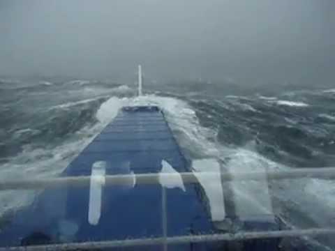Bangladesh made Ship Struggling in 7 Sea Storm
