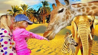 Animal video Giraffe! Funny Baby vs ZOO ANIMALS are WAY FUNNIER! TRY NOT TO LAUGH Cute kids