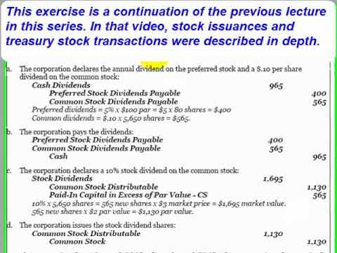 Accounting Lecture 19 - Cash and Stock Dividends